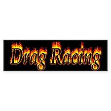 Drag Racing Flame Bumper Bumper Sticker