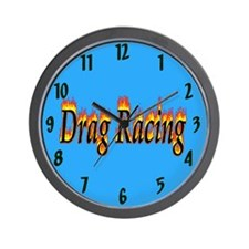 Drag Racing Flame Wall Clock