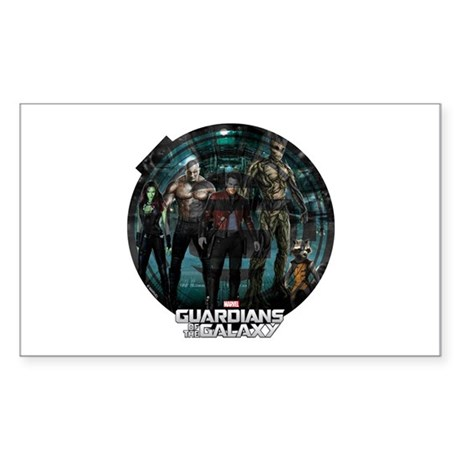 Guardians of the Galaxy Round Sticker (Rectangle)