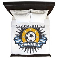 Argentina Soccer Ball King Duvet