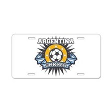Argentina Soccer Ball Aluminum License Plate
