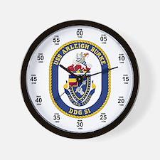 USS Arleigh Burke DDG-51 Wall Clock