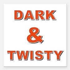 "DARK & TWISTY Square Car Magnet 3"" x 3"""