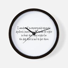 I Wonder Wall Clock