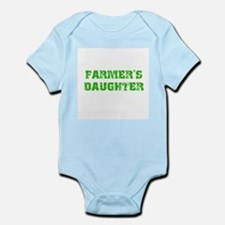 Green tractor Infant Bodysuit
