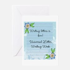 Universal Letter Writing Week Greeting Cards