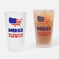 America Scale Drinking Glass