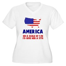America Scale Plus Size T-Shirt