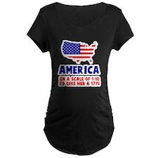America Scale Maternity T-Shirt