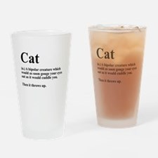 Cat Definition Drinking Glass