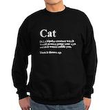 Cat definition Sweatshirt (dark)