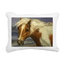 Cute Assateague Rectangular Canvas Pillow