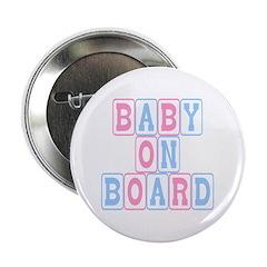 Baby On Board (blocks) Button