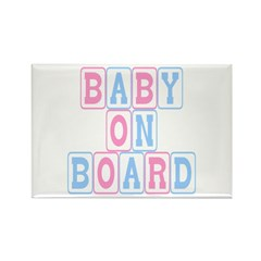 Baby On Board (blocks) Rectangle Magnet