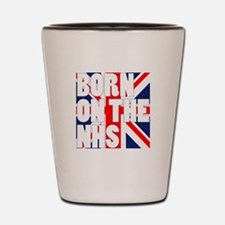 born on the NHS Shot Glass
