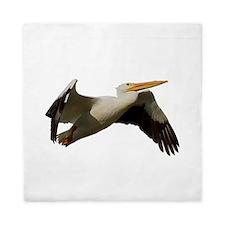 White Pelican Departure Queen Duvet