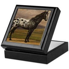 Cute Appaloosa horses Keepsake Box