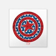"Stars and Stripes Captain A Square Sticker 3"" x 3"""