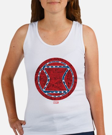 Stars and Stripes Black Widow Women's Tank Top
