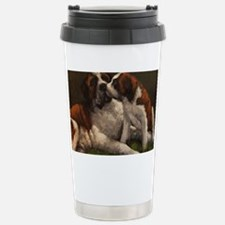 Cute Saint bernard Travel Mug