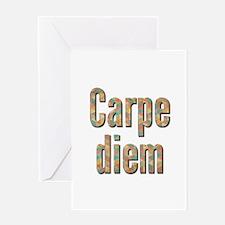 Carpe-diem-shadow Greeting Cards