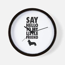 Say Hello to My Little Friend Welsh Corgi Wall Clo