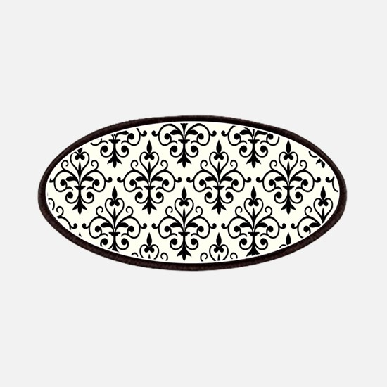 White & Black Damask 41 Patches