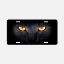 Cat Eyes Aluminum License Plate