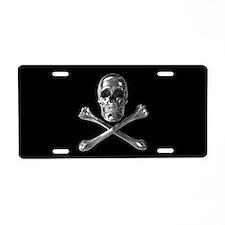 Jolly Roger Skull Aluminum License Plate