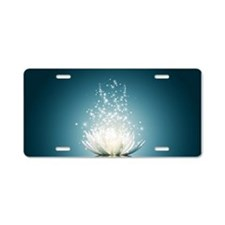 White Lotus Magic Aluminum License Plate
