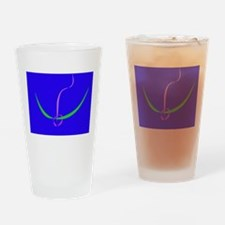 Bow and Arrow Solid Blue Drinking Glass