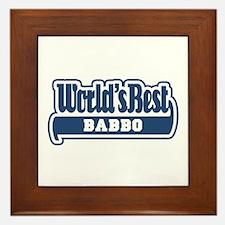 WB Dad [Italian] Framed Tile