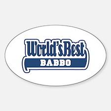 WB Dad [Italian] Oval Decal