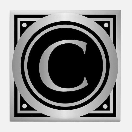 Deco Monogram C Tile Coaster