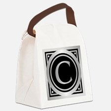 Deco Monogram C Canvas Lunch Bag