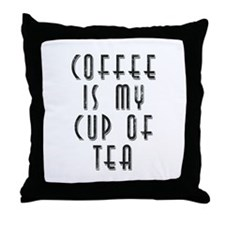 Cute Cup coffee Throw Pillow