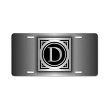 Deco Monogram D Aluminum License Plate