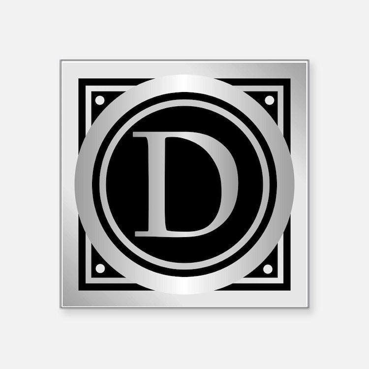 Deco Monogram D Sticker
