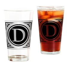 Deco Monogram D Drinking Glass
