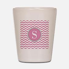 Any Letter, Pink White Gray Chevron Monogram Shot