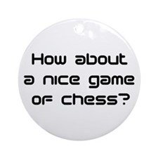 game of chess Ornament (Round)