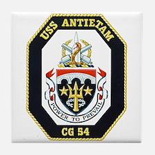Uss Antietam Cg-54 Tile Coaster