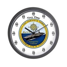 USS Gerald R. Ford CVN-78 Wall Clock