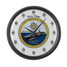 USS Gerald R. Ford CVN-78 Large Wall Clock