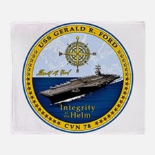 USS Gerald R. Ford CVN-78 Throw Blanket