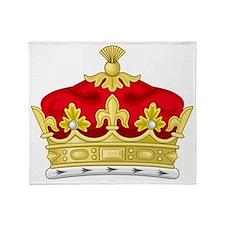 Crowned Throw Blanket