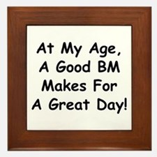 A Good BM Makes For A Great Day Framed Tile