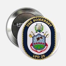 """Uss Somerset Lpd-25 2.25"""" Button"""
