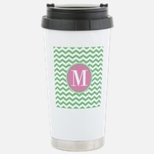 Any Letter, Pink and Gr Travel Mug