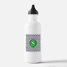 Any Letter, Navy Blue Water Bottle